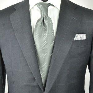 Hickey Freeman Black Suit + Free Armani Necktie